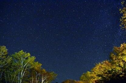 冬の夜空には満天の星