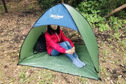 ダイソーのテント