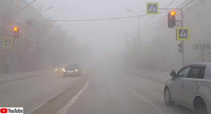 ロシア、ヤフーつくの-49℃の道路状況