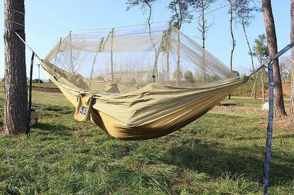 Wecamture ハンモック 蚊帳付き パラシュート