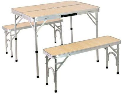 クイックキャンプ「アルミテーブル チェアセット ALPT-90」