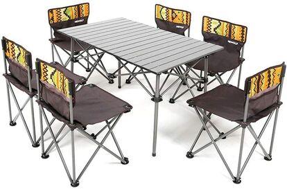 きせき「折り畳みテーブルチェア6脚セット」