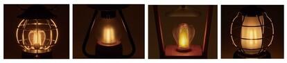 「ゆらめきモード」にセットすると、ロウソクのようにゆらめく灯りで癒しの空間を演出。 モードは切り替え可能で、アウトドアシーンだけでなくインテリアの一部としても活躍。