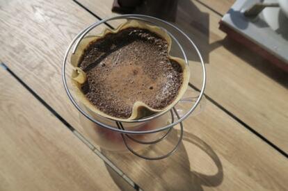 ユニフレームの「コーヒーバネットsierra」でコーヒーをいれる