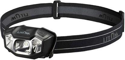 Litom ヘッドライト USB充電式 赤&白LEDライト 14種モード IPX6防水 超軽量 120ルーメン 角度調整