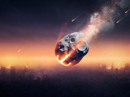 半年前にわかっていても、小惑星が衝突することは避けられない(NASAのシミュレーション)