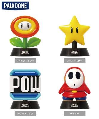 スーパーマリオ キャラクターライト ファイアフラワー、スーパースター、POWブロック、ヘイホー