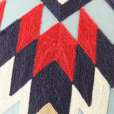 「刺繍クッションカバー Native」
