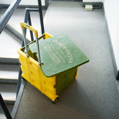「コンテナキャリー YEKA」荷物を詰めて運べるコンテナキャリー。