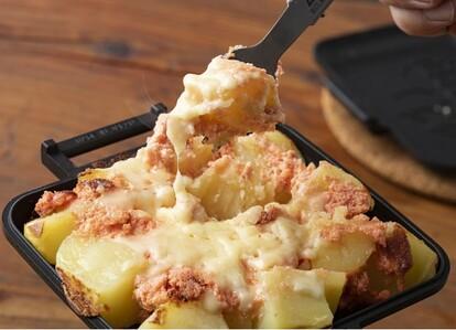 味を爆上げする明太子とチーズの最強タッグ「明太マヨチーズポテト」