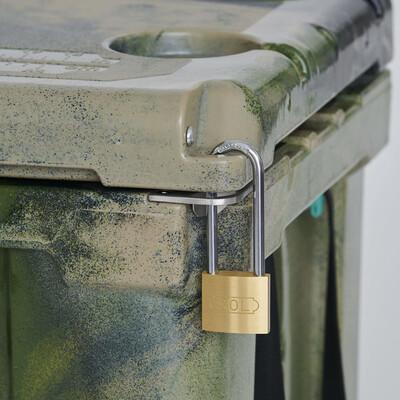 パックロットポートに鍵を取り付け可能。