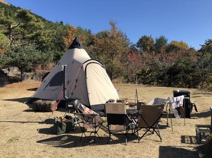 ストーブで冬キャンプ