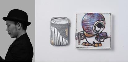 左:志水堅二 右:志水堅二モデル ウォレットショルダーバッグ