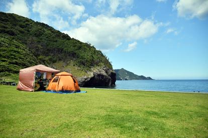 ひっそりと海キャンプ